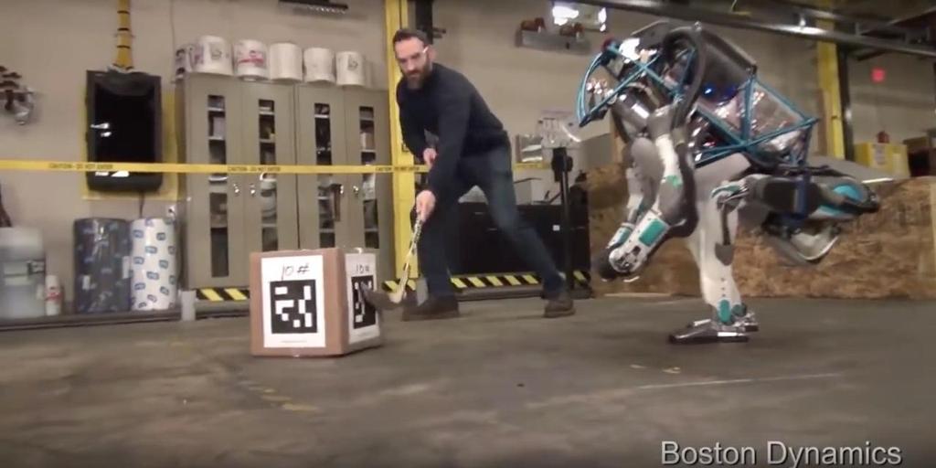 Boston Dynamics' robots using fiducial markers